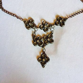 Antique Gold Statement Necklace by PerryAlexandra