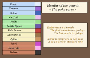 Calendar for the poke-verse by Lion-Oh-Day