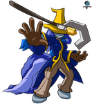 Bubble Wrap as Black Mage by GamefreakDX