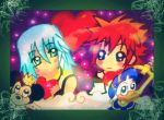 KH Chibis Riku and Sora by KawaiiDarkAngel