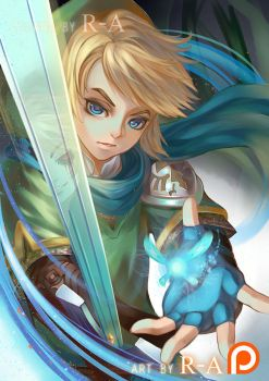 LINK -  THE HERO OF HYRULE by Hanh-Chu
