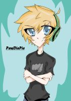 Pewdie!!~ (In Nadi-Chan's style) ^-^ by Sianna-Miku