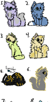 Free Cat/Kitten Adoptables by StormSkyTheIdiot