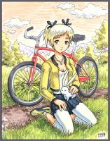 of bunnies and bicycles by Usagisama
