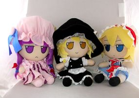 Patchy, Marisa and Alice by Damaged927
