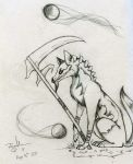 Grimreaper Sketch by MadCheshireFox