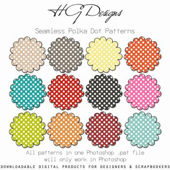 Seamless Polka Dot Patterns by HGGraphicDesigns