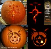Full Metal Alchemist Pumpkins by wytwolf