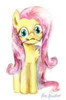 Fluttershy by blueparakeet