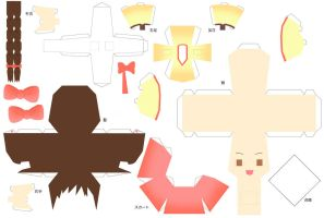 Hetalia Papercraft Fem South Korea by SumatraDjVero