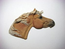 Palomino Horse Head by Ethereal-Beings