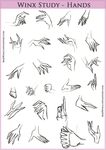 Winx Studies - Hands by MaeWings
