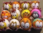 Garfield Easter eggs by Rene-L