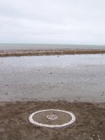 Chalk pebble circle by Dishtwiner