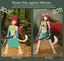 Battle Goddess Before-After by TheNekoStar