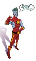 Captain Planet by Toyebot