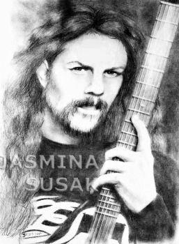 James Hetfield-Drawing by JasminaSusak