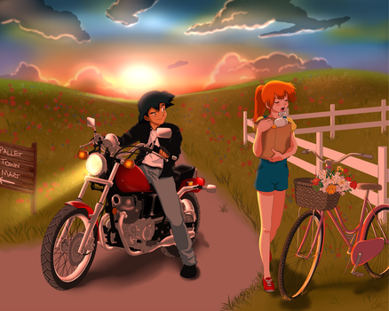 Motorcycle Date by HollyLu