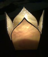 Glass Candle Holder by Veggie-San