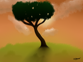 Lonely tree by Gorriegusta