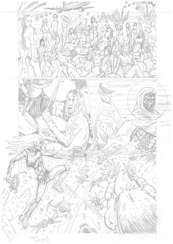 Iron Maiden page 14 pencils by DarrenEmond