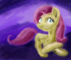Fluttershy Sketch Color by Obsequiosity