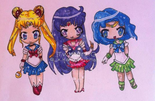 Chibis: Sailor Moon by KarochiChan