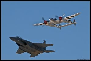 Heritage Flight 2011 by AirshowDave
