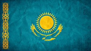 Kazakhstan Grunge Flag by SyNDiKaTa-NP