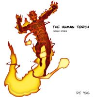 The Human Torch by DAVEAC1117