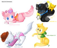 Gaia 'Catified' Commissions by Moonblizzard