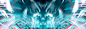 cyan red explosion V2 (multi monitor) by RtyQ