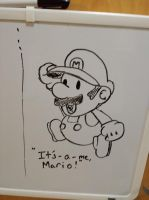Paper Mario Whiteboard by AutumnHawk