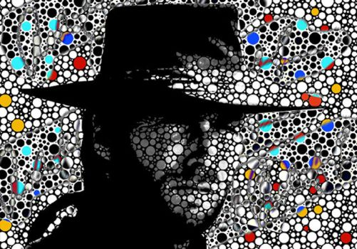 Clint Eastwood Abstract Paintings Art Modern PRINT by robertrpaintings