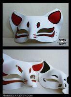Anime cat masks - handmade leather masks by nondecaf