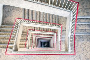 13-10 Tempelhof  -  stairs down by evionn