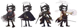 Walt Outfits Line-up by lastlabyrinth