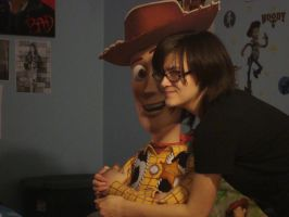 Close up of me and woody by spidyphan2