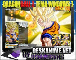 Goku SSJ Tema Windows 7 by Danrockster