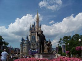 Walt Disney and Mickey Statue by Dream-finder