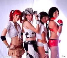 Rumble Roses Girls by plu-moon