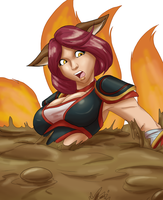 LS-CM, Foxfire Ahri in Quicksand by Toughset