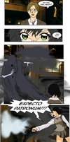 Art trade: Learning to fight a Dementor by yinyangswings