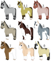 OPEN - Horse Adoptables ($ or Pts) by NightShadeStudio