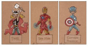 Custome Moleskines - Avengers by freddyscribbles