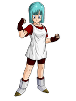 Bulma in new outfits by brolyeuphyfusion9500