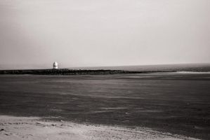 B and W View Coney Bay Beach March 2013 by welshrocker
