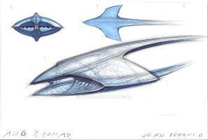 Spaceship Form sketch 1 by Augos