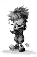 Kingdom hearts - Sora (chibi) by reniervivas666