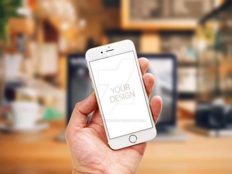 iPhone 6s Gold Photorealistic Mockups by theanthnonyrich